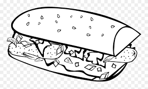 Food is not only essential for life, but it's also a fun theme to color. Food Coloring Pages Coloring Pages For Kids Coloring Sandwich Clip Art Black And White Png Download 1782396 Pinclipart