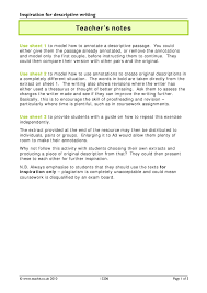 ks descriptive writing teachit english  6 preview ks4 writing inspiration for descriptive writing in word format inspiration