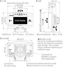 advance zd specifications defi exciting products by ns japan defi link gauges at Defi Meter Wiring Diagram
