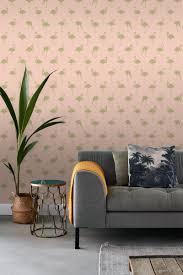 Bolcom Estahome Behang Flamingos Goud En Perzik Roze 138994