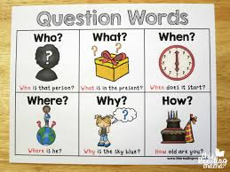 Free Question Words Chart English Language Learners