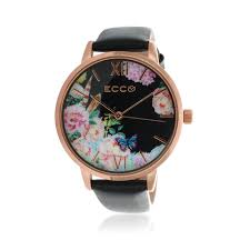 ellis co collection fl black leather band womens watch 30258181 watches shiels jewellers