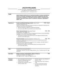 Profile On Resume Example Free Resume Templates 2018