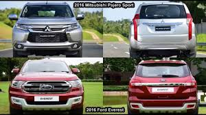 2018 mitsubishi sport. simple mitsubishi new 2018 ford everest vs mitsubishi pajero sport  design with mitsubishi sport