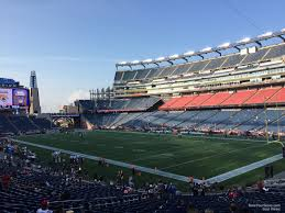 Gillette Interactive Seating Chart Gillette Stadium Section 125 New England Patriots