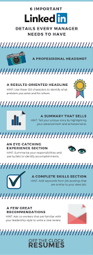 6 Important Linkedin Details Every Manager Needs To Have Infographic