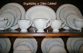 china cabinet organizing