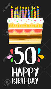Happy Birthday Number 50 Greeting Card For Fifty Years In Fun