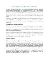 Interview Introduction How To Handle Introduction During An Interview By Steven Scott Issuu