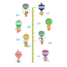Children S Height Measurement Chart Winhappyhome Hot Air Balloon Kids Height Measurement Chart