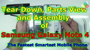 samsung galaxy note 4 tear down (chip level), parts view and dis 5 wire battery at Note 4 Battery Wiring Diagram