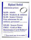 admission price