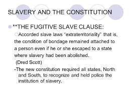 Image result for fugitive slave clause definition