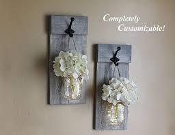 smart idea mason jar wall decor distressed sconce set sconces rustic zoom blue diy