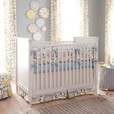 this custom baby bedding redefines luxury with its simplistic approach to style the use of pastel colors lets the vibrant colors stand out without becoming