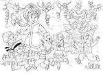 Раскраска открытка новый год для детей
