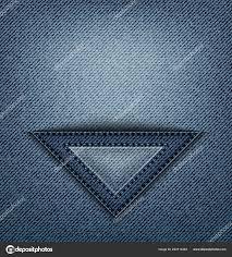 Blue Jeans Triangle Pocket Stitches Denim Stock Vector Jminka