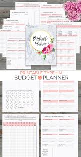 Budget Planner Printable Monthly Household Budget Form
