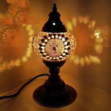 image of new turkish lamp moroccan lamp style glass desk table lamp