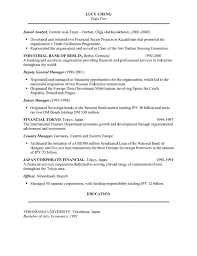 sample cv template banker resume example