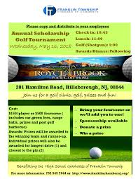 Franklin Township Chamber Of Commerce Golf Outing Flyer
