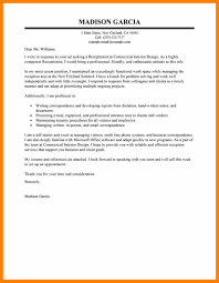 10 Cover Letter Examples For Receptionist Prome So Banko