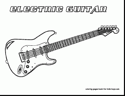 Small Picture good electric guitar sketch with guitar coloring page