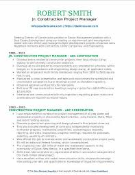 Sample Resume Construction Project Manager Construction Project Manager Resume Samples Qwikresume