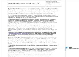 business policy example how to write an iso 22301 compliant business continuity policy it