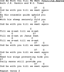 Country, Southern and Bluegrass Gospel Song God Be With You Till We Meet  Again-Jim Reeves