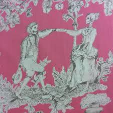 Dia de los Muertos Day of the Dead Toile Hot Pink Skeleton Toile ... & Dia de los Muertos Day of the Dead Toile Hot Pink Skeleton Toile Day Of The  Dead Quilt Cotton Quilting Fabric AH144 Adamdwight.com