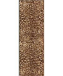 kings court gold leopard print area rug wayfair jute oval well woven