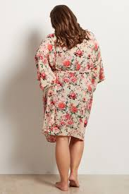 plus size robes off white floral delivery nursing plus size maternity robe