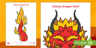 Be creative and make your paper craft extra special with your own message, note. Chinese Dragon Head And Tail Chinese New Year