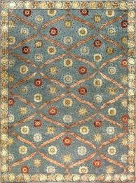 blue and gold area rug red