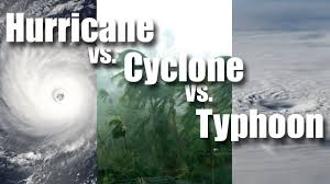 Hurricane vs Cyclone vs Typhoon - YouTube