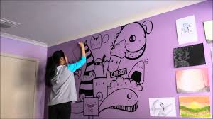 purple backdrops wall paint art colouring high quality materials doodle home made girls bedroom suitable