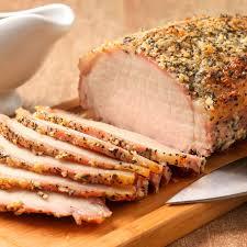 garlic and herb crusted pork loin roast
