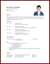 Free Resume Template For College Students Templates With No Work