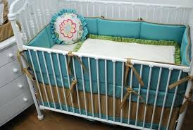 tan crib bedding