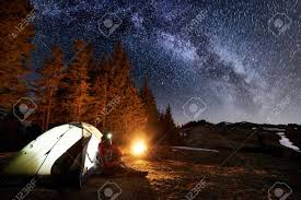 Camping in the woods at night Horror Male Tourist Have Rest In His Camp Near The Forest At Night Man Sitting 123rfcom Male Tourist Have Rest In His Camp Near The Forest At Night