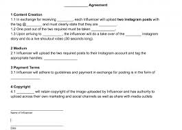 Influencer Agreement Template Joint Marketing Agreement Template ...