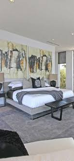 modern bedroom artwork that makes a statement and defines the feeling in this room