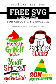 Free Christmas Movie Svg Bundle Perfectstylishcuts Free Svg Cut Files For Cricut And Silhouette Cutting Machines