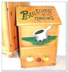vegetable storage bin wood kitchen box wooden potato onion and bins home design ideas