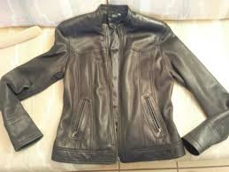 ana a new approach 100 genuine black leather jacket blazer women s medium 8 10