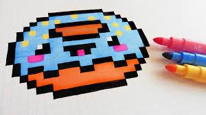 Handmade Pixel Art How To Draw Kawaii Donut Pixelart Youtube