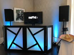 diy dj facade for weddings or special events hide the cables and dj equipment with