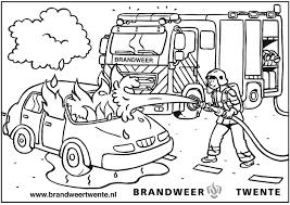 Hulpdiensten Kleurplaat Pin By Jenny Van Losser On Brandweer
