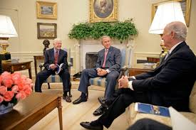 Jimmy carter oval office Museum President George W Bush Meets With Former President Jimmy Carter And Secretary Of State James George W Bush White House Statement By The President On The Carterbaker Commission